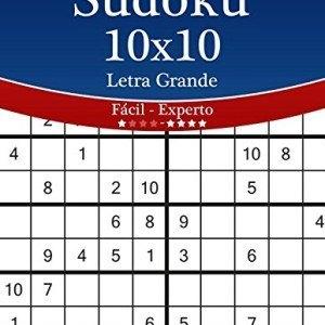 Sudoku-10x10-Impresiones-con-Letra-Grande-De-Fcil-a-Experto-Volumen-13-276-Puzzles-Volume-13-0