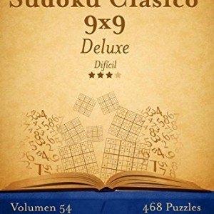 Sudoku-Clsico-9x9-Deluxe-Difcil-Volumen-54-468-Puzzles-Volume-54-0