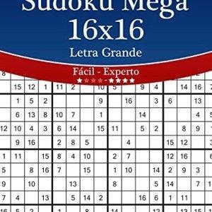 Sudoku-Mega-16x16-Impresiones-con-Letra-Grande-De-Fcil-a-Experto-Volumen-34-276-Puzzles-Volume-34-0